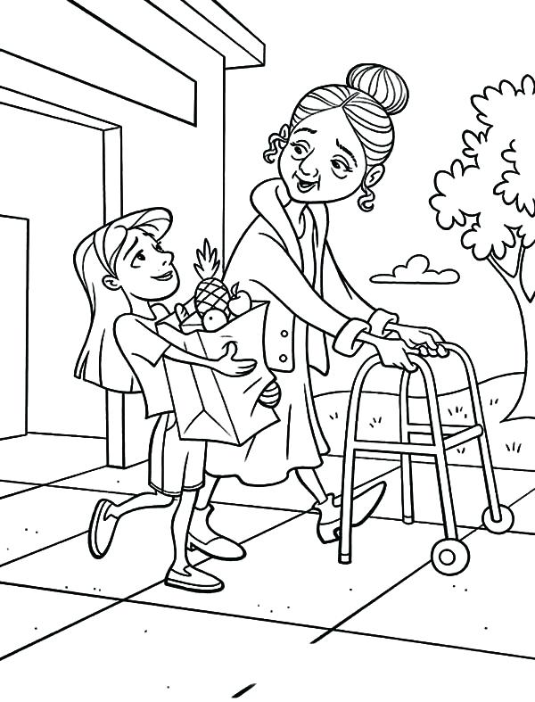 600x787 Person Coloring Pages Coloring Pictures Of People Helping Others