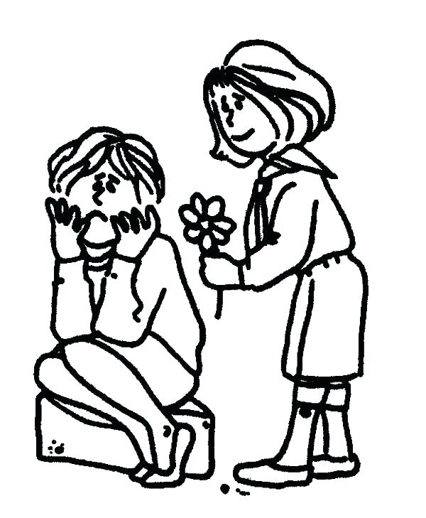 600x729 Sharing Coloring Page Helping Others Coloring Pages Sharing