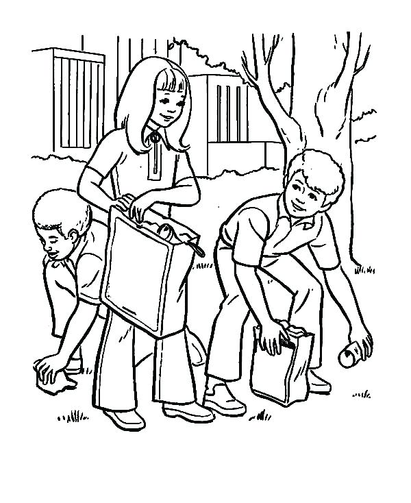 600x734 Sharing Coloring Pages Helping Others Coloring Pages Earth Day