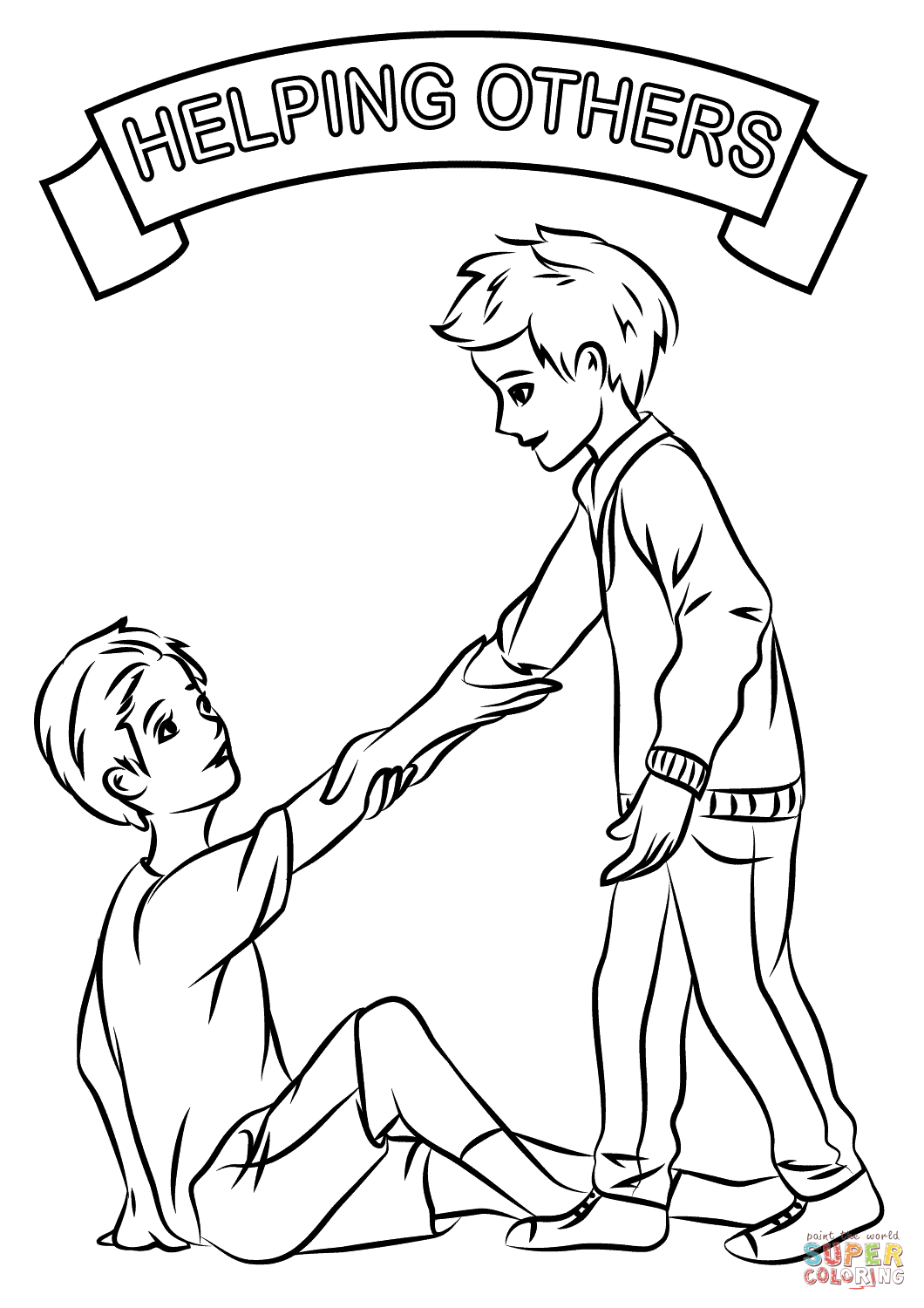 Helping Others Coloring Pages At Getdrawings Free Download