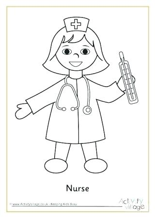320x452 Coloring Pages Of People Nurse Coloring Pages Plus Incredible