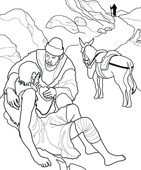 600x722 Helping Others Coloring Pages Helping Others Coloring Pages