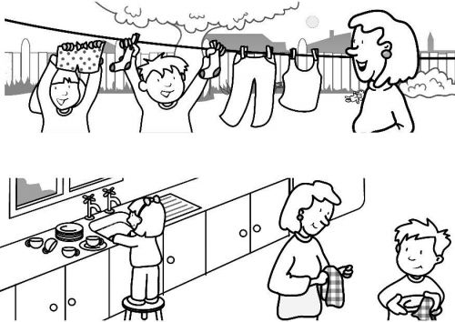 500x354 Helping Others Sunday Schoo Coloring Page Sunday School Lesson
