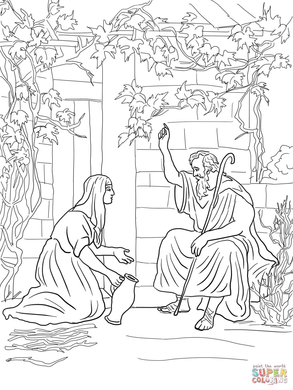 1200x1600 New Elisha Helps A Widow Coloring Page Free Printable Pages