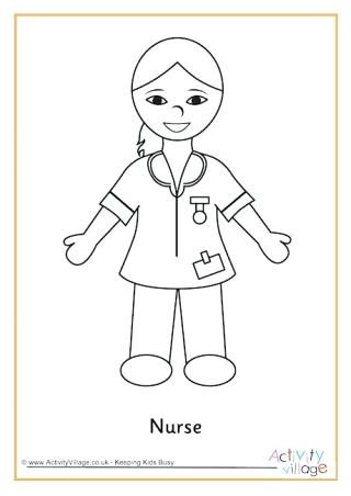 320x452 Nurse Coloring Page Quickly Nursing Coloring Pages People Who Help