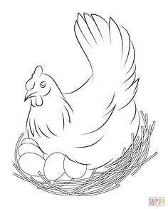 236x293 Free Printable Coloring Page Featuring A Chicken, Hen Chickens