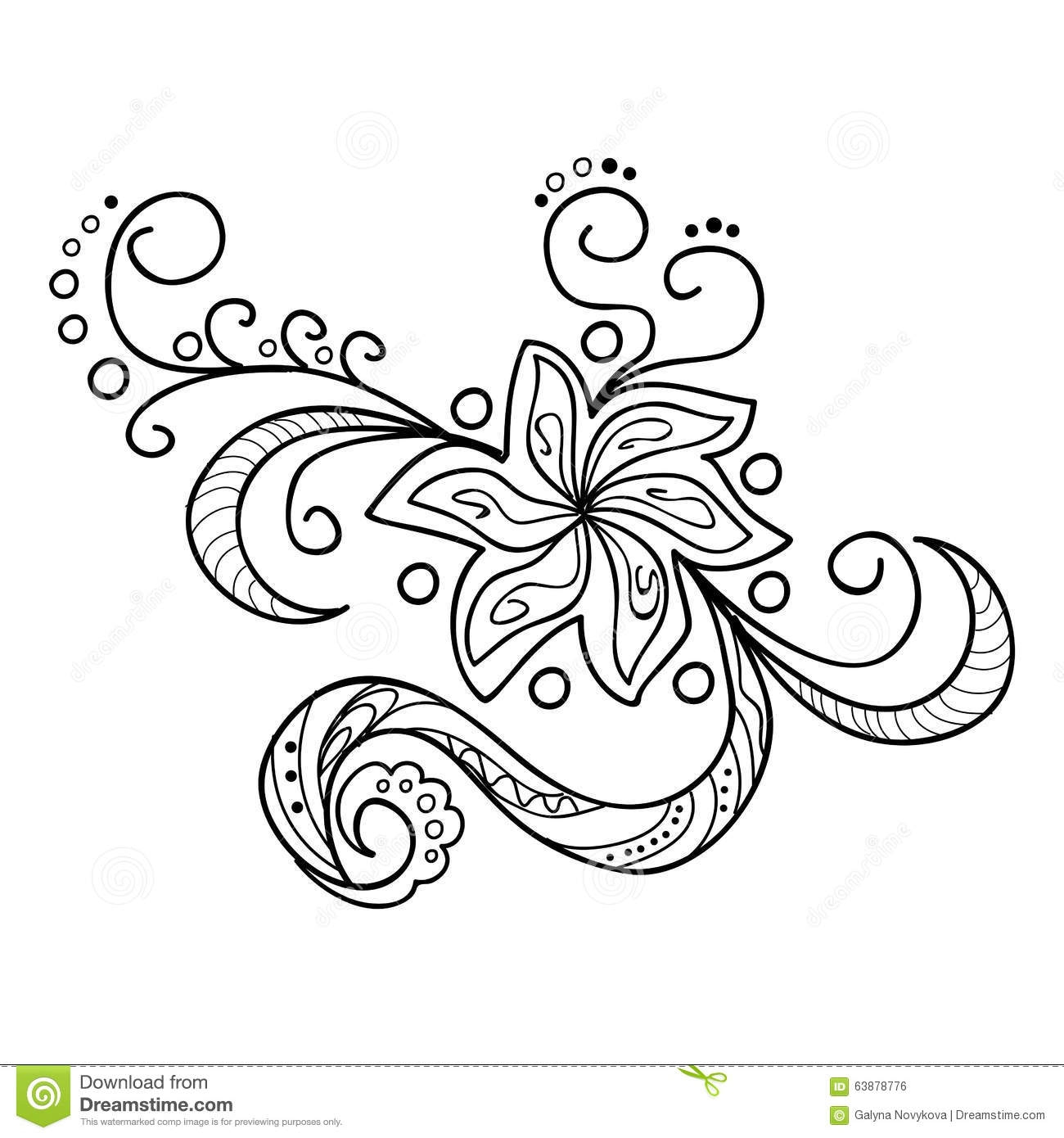 Henna Coloring Pages