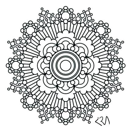 429x438 Flower Mandala Coloring Pages Mandala Coloring Pages Mandala