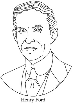 239x350 Henry Ford Clip Art, Coloring Page, Or Mini Poster
