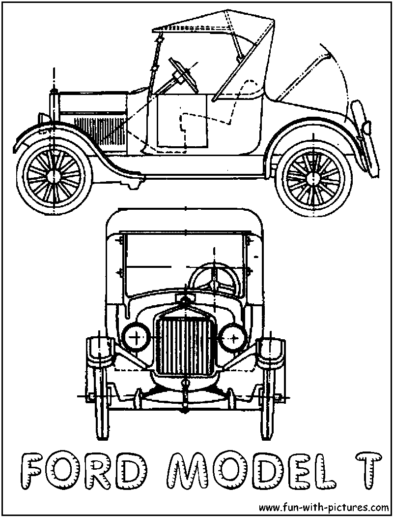 800x1050 Model T Ford Modern History Coloring Book Ford