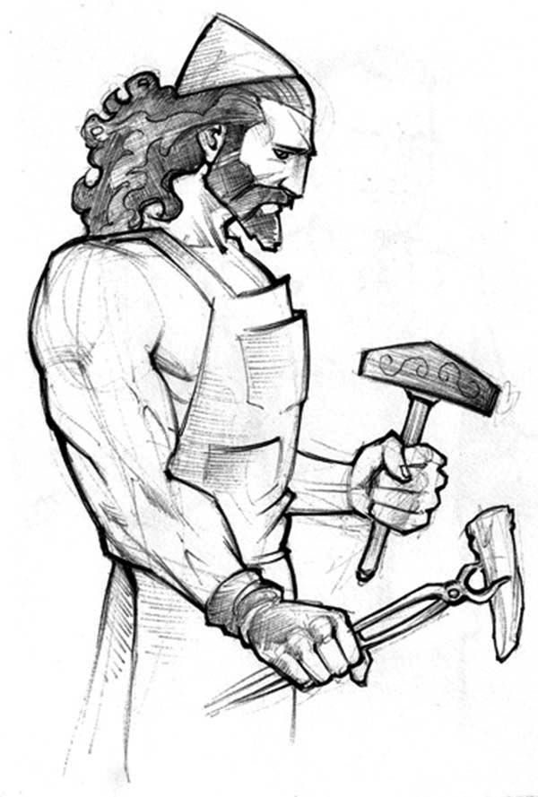 The Best Free Hephaestus Coloring Page Images Download From
