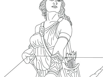 440x330 Greek God Coloring Pages Goddess Blog The Of Hunting S