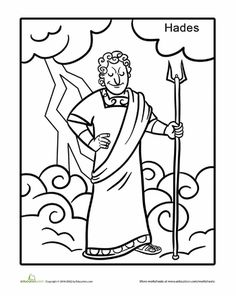 236x296 Greek God Hermes Coloring Page Worksheets, Greek And School