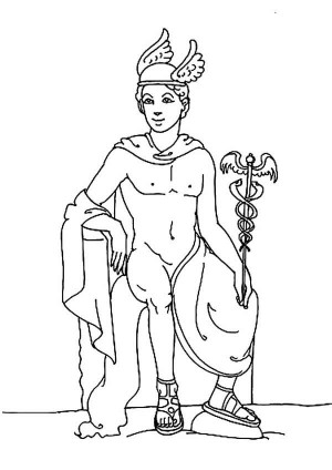 300x424 The Goddess Athena Of Greek Mythology Coloring Page The Goddess