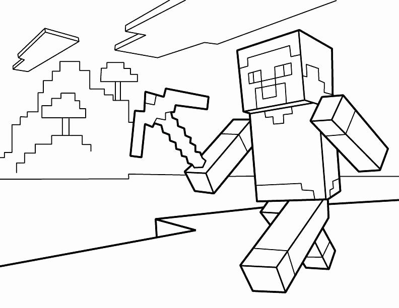 Herobrine Coloring Pages At Getdrawingscom Free For Personal Use
