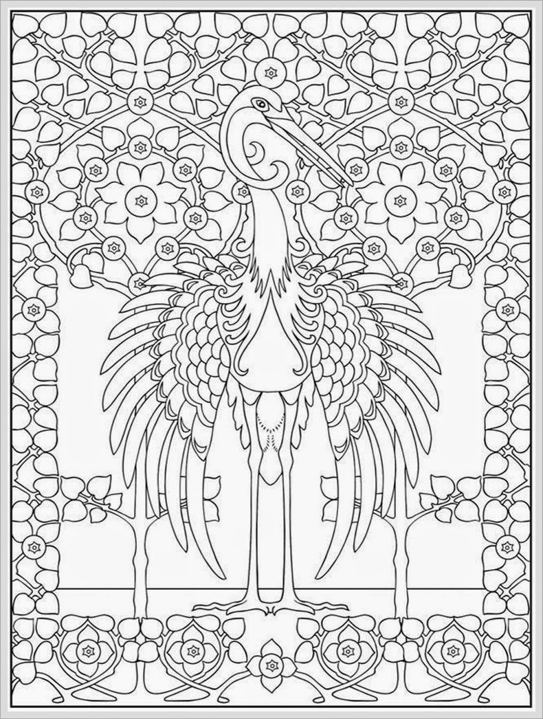 Heron Coloring Page