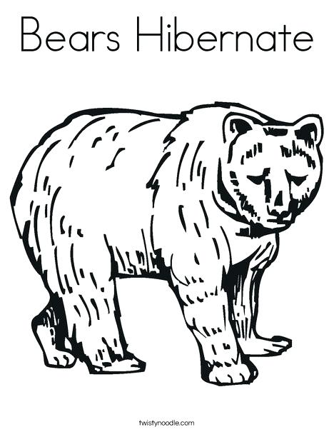 468x605 Coloring Pages Of Bears It S Here Hibernating Animals Coloring