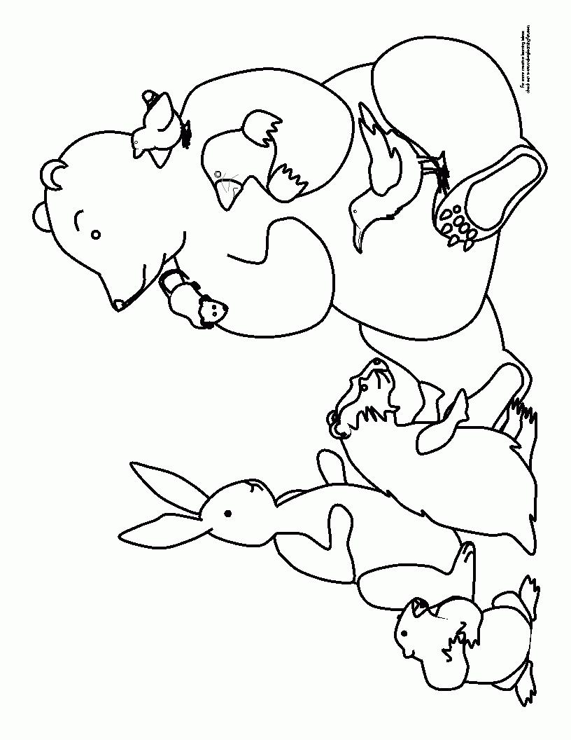 816x1056 Hibernating Bear Coloring Page