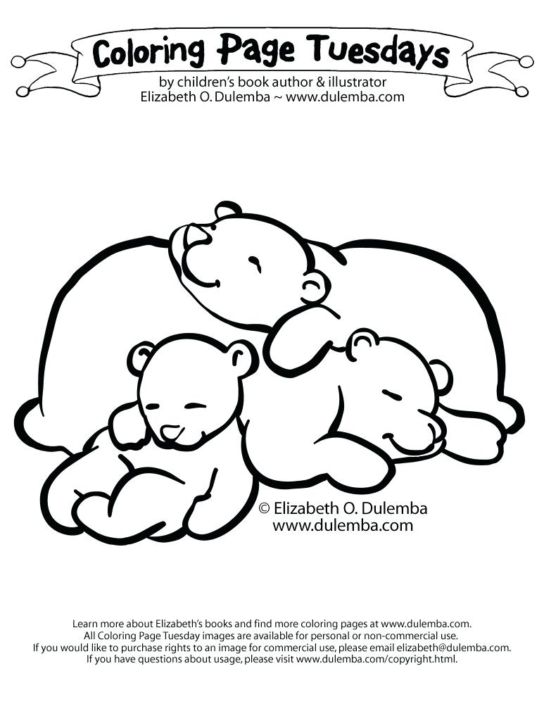 773x1000 Hibernating Bear Coloring Page Coloring Page Sleeping Bears