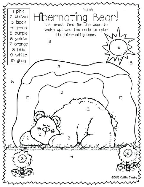 486x633 Hibernating Bear Coloring Page Luxury Hibernation Coloring Pages