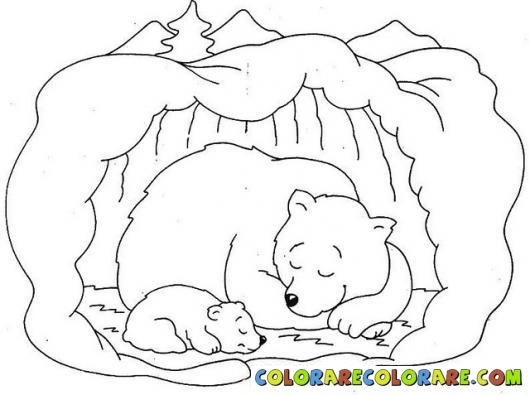 530x395 Hibernation Bear Colouring Pages Art Lessons