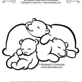 268x268 Related Keywords Suggestions For Hibernating Bear Coloring Page