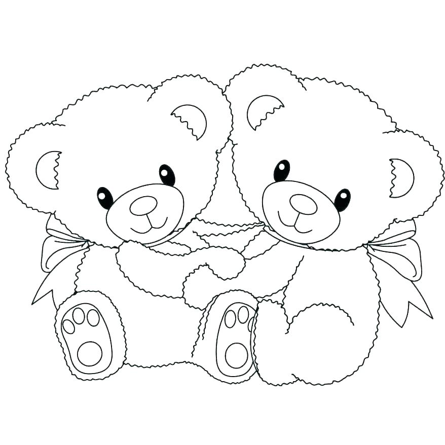 878x878 Bear Coloring Pages Preschool Hibernating Bear Coloring Page