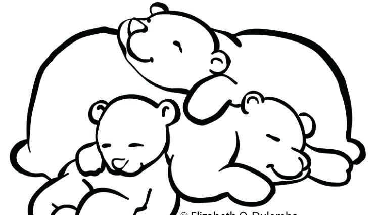 750x425 Sleeping Bear Coloring Page Simplistic Sleeping Bear Coloring Page