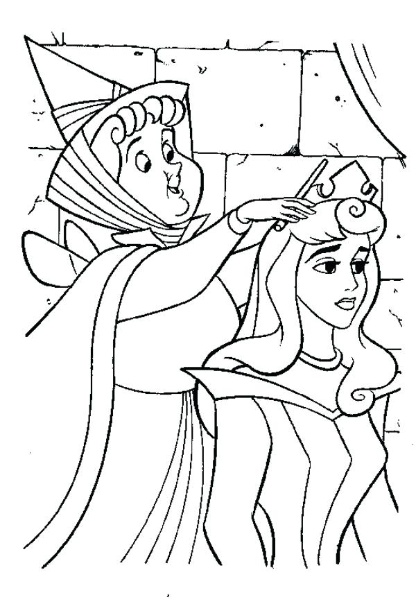 600x871 Sleeping Coloring Page Download Sleeping Beauty Coloring Pages