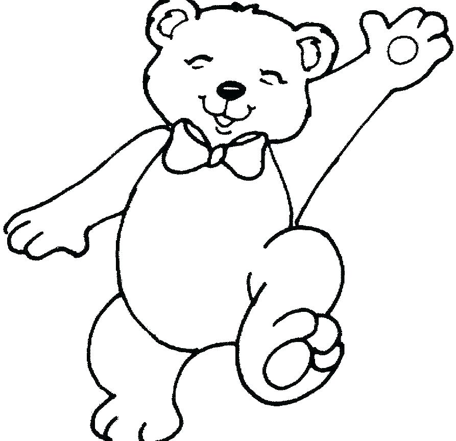 893x864 Hibernating Bear Coloring Page