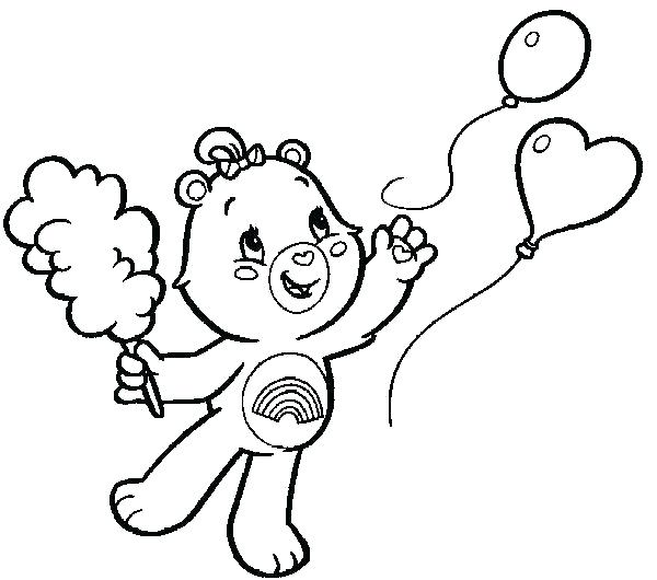 600x530 Bears Coloring Pages Hibernating Bear Coloring Page Care Bear