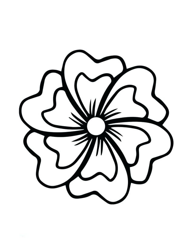 618x824 Flower Coloring Page Hibiscus Coloring Page Free Printable