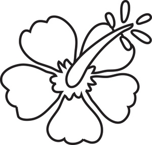 300x286 Hawaiian Hibiscus Flower Coloring Pages