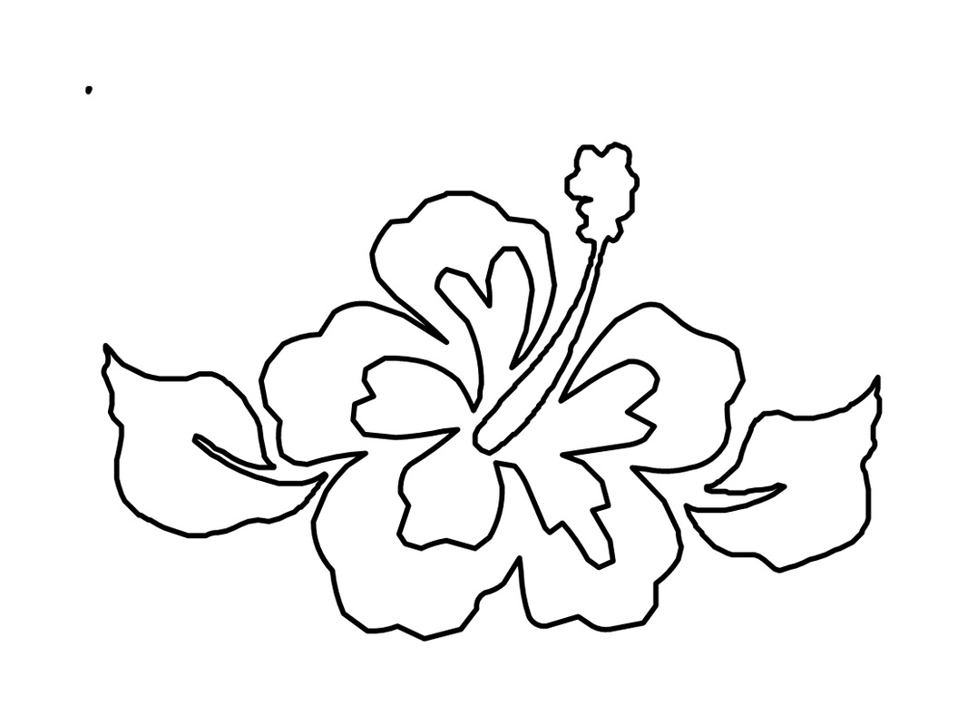 1066x800 Free Printable Hibiscus Coloring Pages For Kids