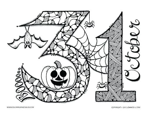 500x386 Halloween Hidden Pictures Coloring Pages Can Be Used As A Family
