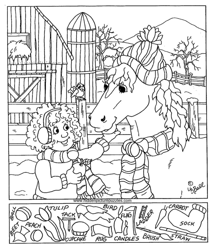 873x1024 Hidden Picture Coloring Pages