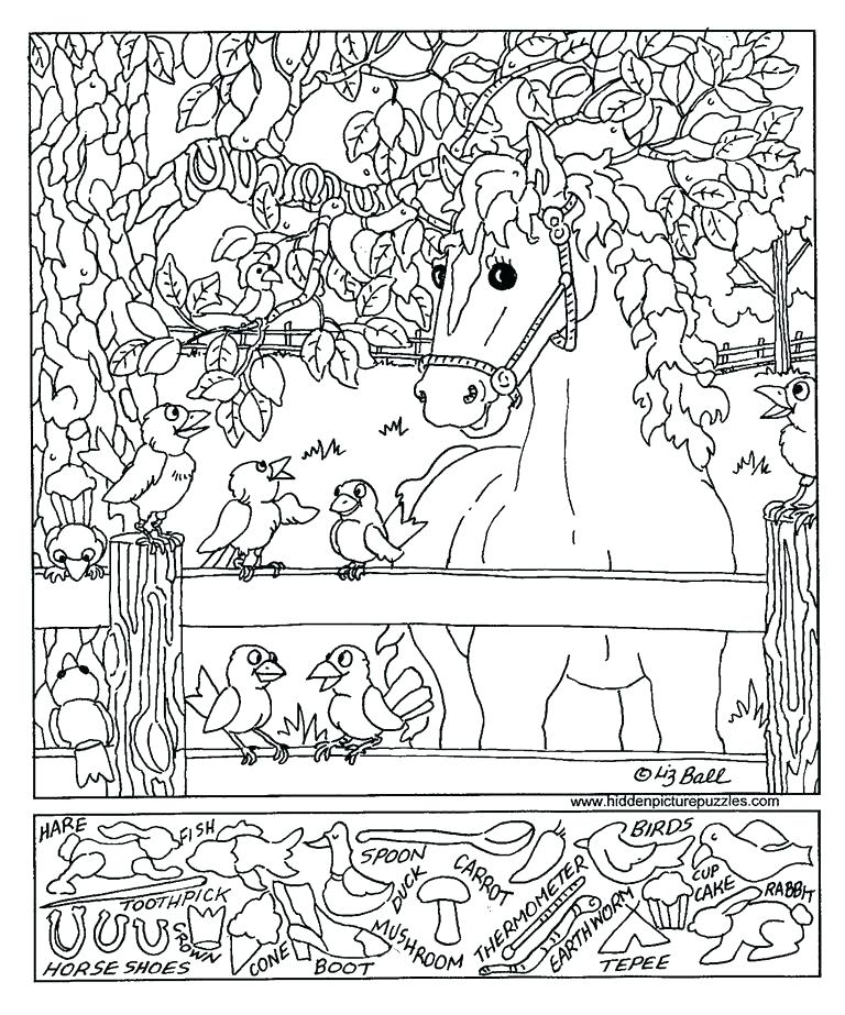 768x923 Hidden Picture Coloring Pages Adult Find Hidden Picture Coloring