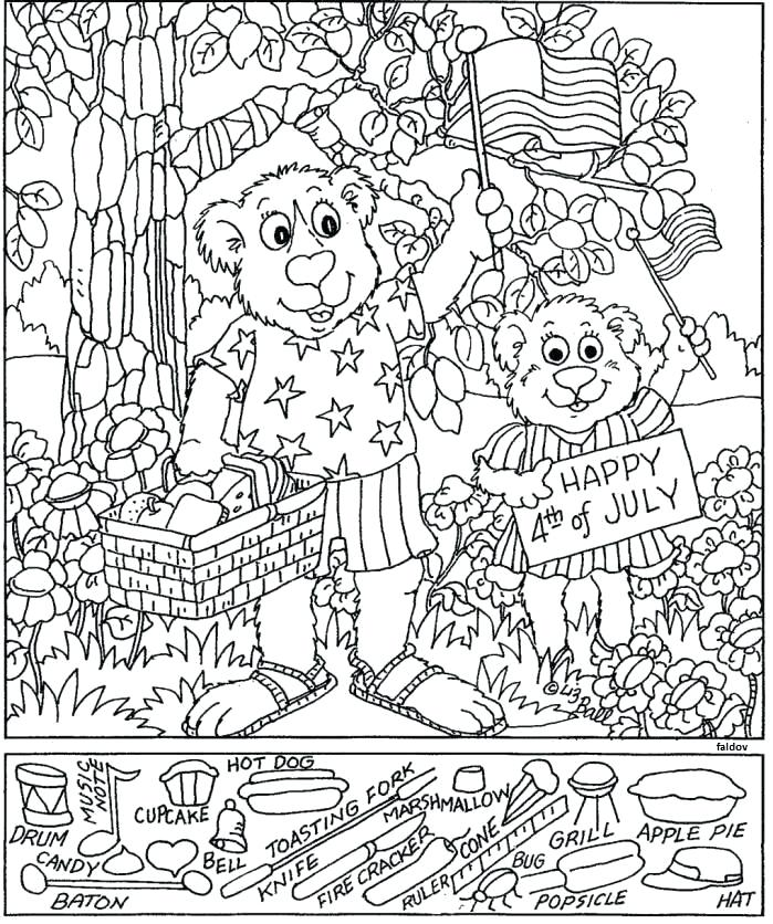 699x836 Hidden Picture Coloring Pages Hidden Pictures For Toddlers Word