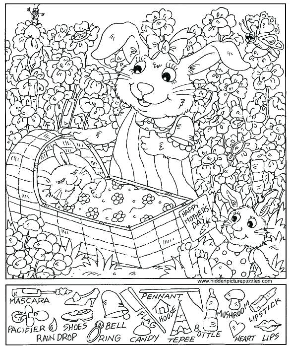 585x699 Puzzles And Games Coloring Pages Printable Hidden Picture Puzzles