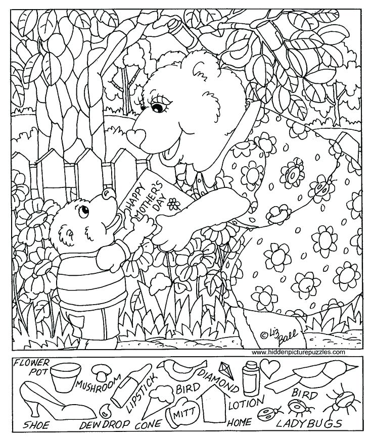 736x871 Hidden Pictures Coloring Pages Coloring Pages Hidden Pictures