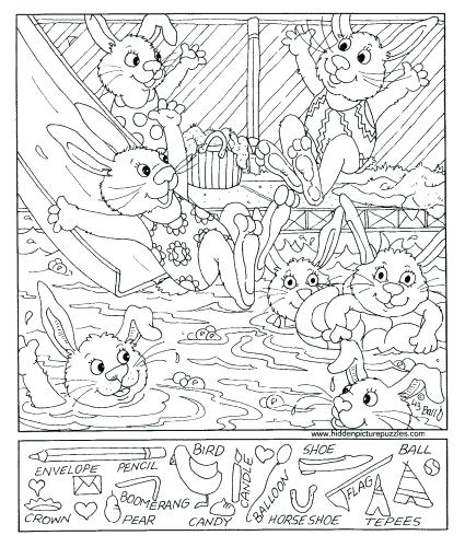425x500 Hidden Pictures Coloring Pages Hidden Picture Coloring Pages