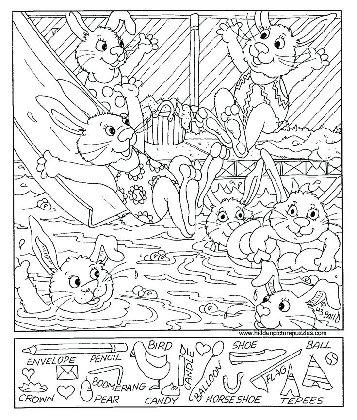 736x866 Hidden Pictures Coloring Pages View And Print This Hidden Pictures