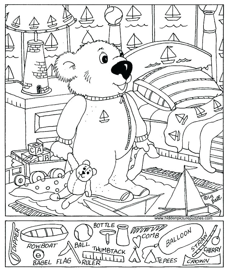 Hidden Pictures Coloring Pages At Getdrawings Com Free For