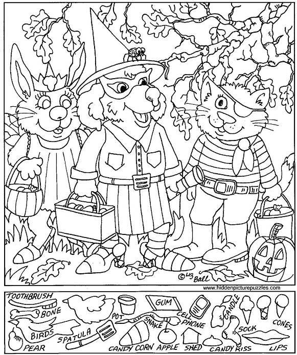 581x695 Halloween Hidden Picture Printable Free Halloween Hidden Pictures