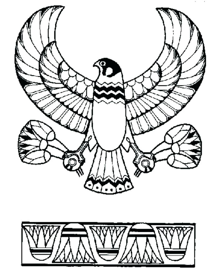 Hieroglyphics Coloring Pages