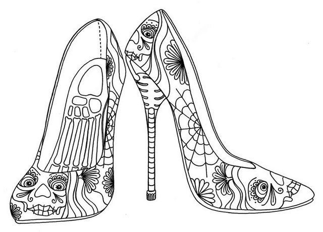 High Heel Coloring Pages