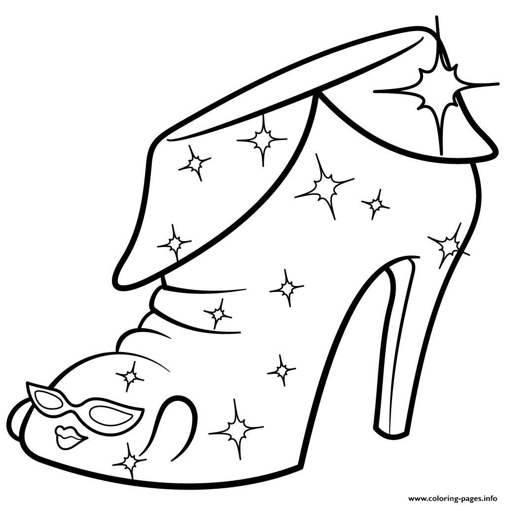 1024x1024 High Heel Shopkins Coloring Page Printable