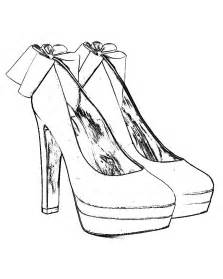 223x279 High Heel Shoe Coloring Page