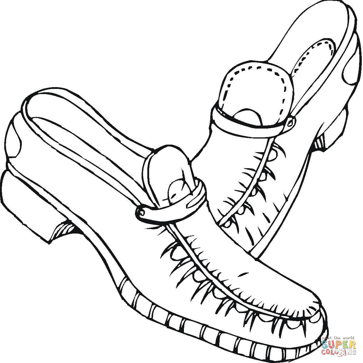 1200x1200 High Heel Shoe Coloring Page Free Printable Pages Within