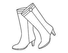 236x184 High Heel Shoes Coloring Pages